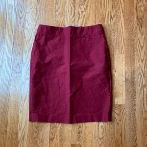 J.Crew Red Maroon Pencil Skirt